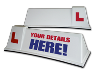 Learner sign top box Aerodynamic Driving Instructor Roof sign